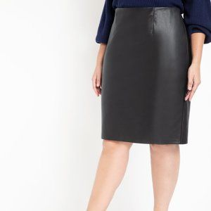 Eloquii Faux Leather Pencil Skirt